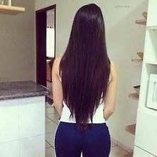 long, dark brown hair, I like the haircut
