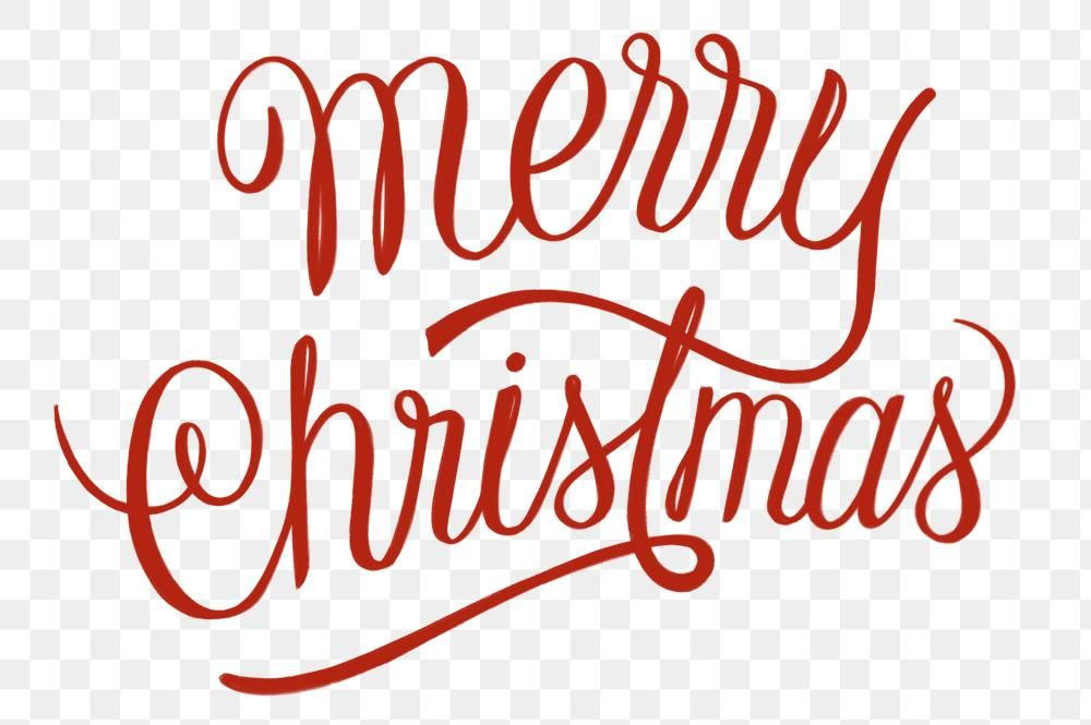 Download Premium Png Of Red Merry Christmas Text Png Sticker Typography Merry Christmas Text Christmas Text Png Text