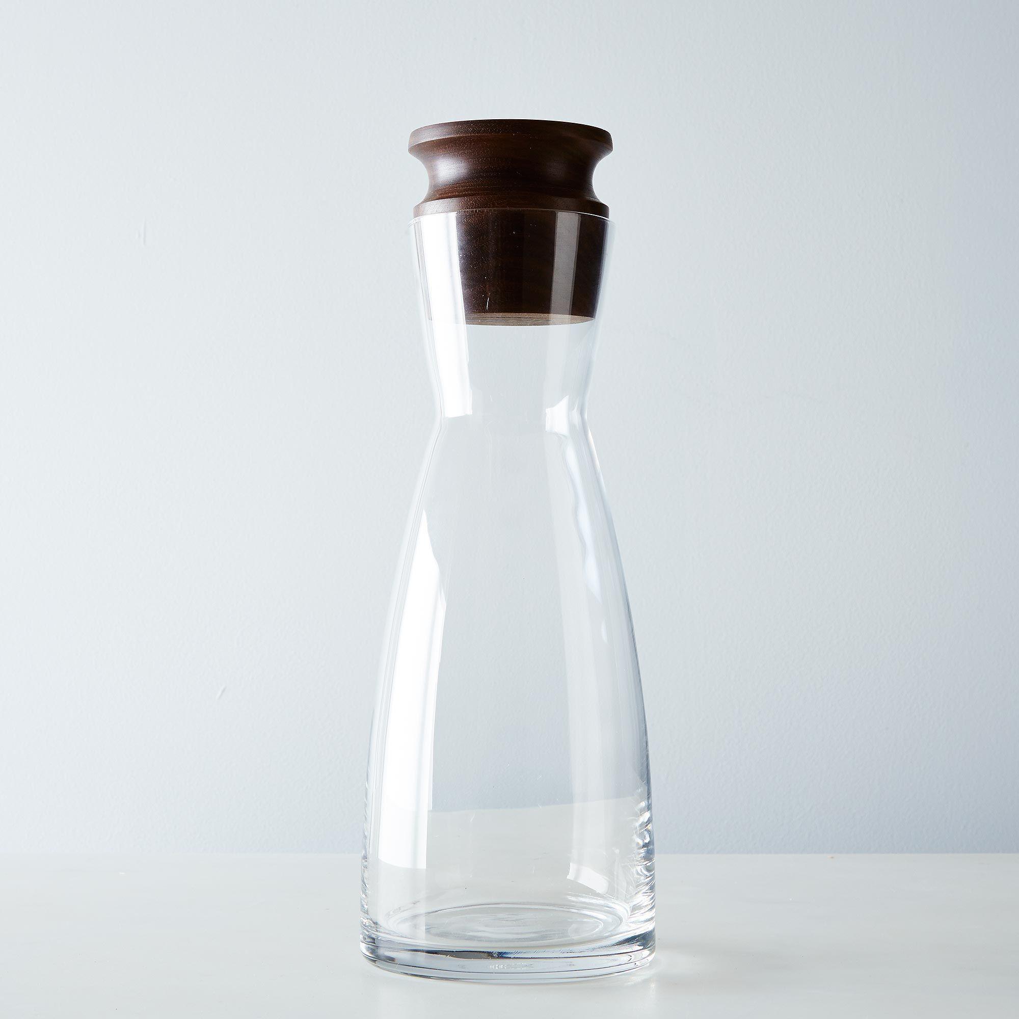 Liter Glass Carafe With Walnut Stop Glass Carafe Carafe Glass