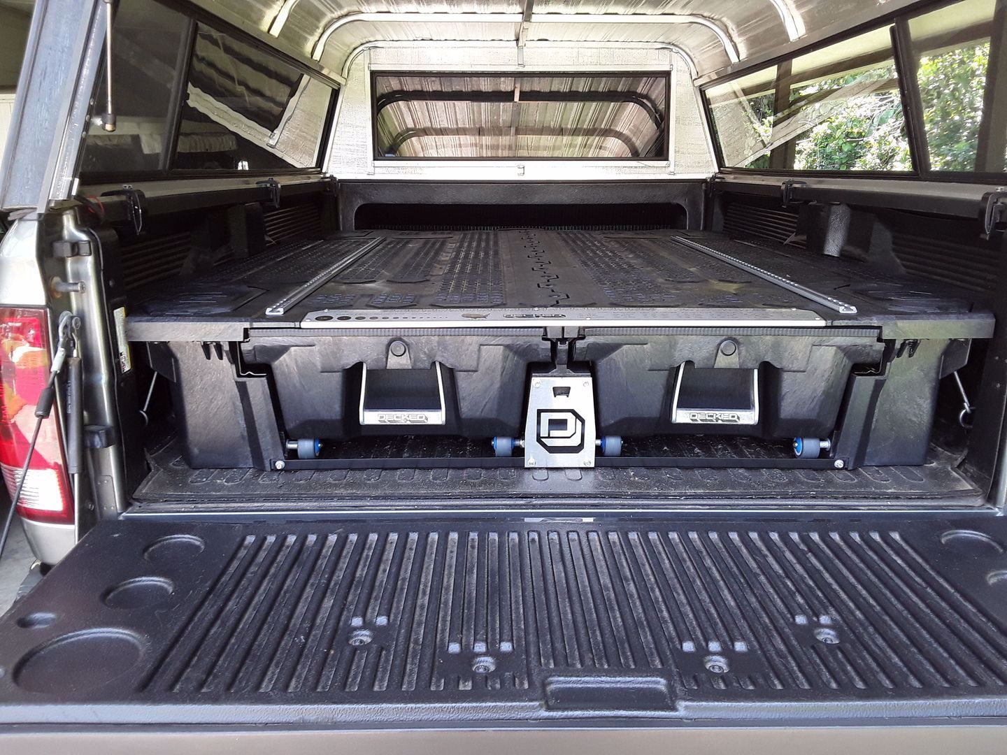For F 150 8 Bed Length Truck Bed Decked Storage System Shop Now In 2020 Truck Bed Deck Systems Deck