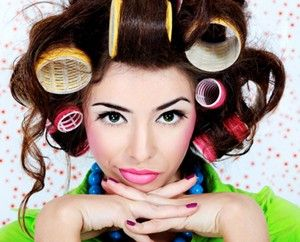 Big Hair with Rollers