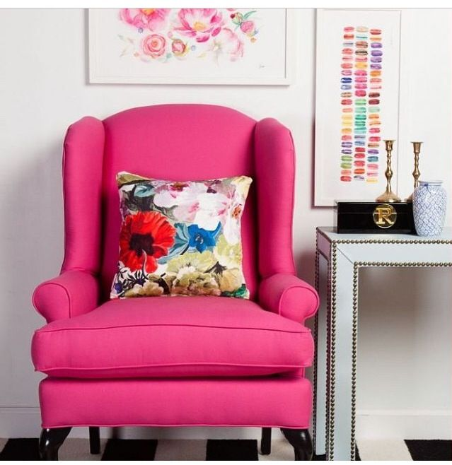 Poltrona rosa | ~STYLE | HOT PINK~ | Pinterest | Hot pink and Apartments