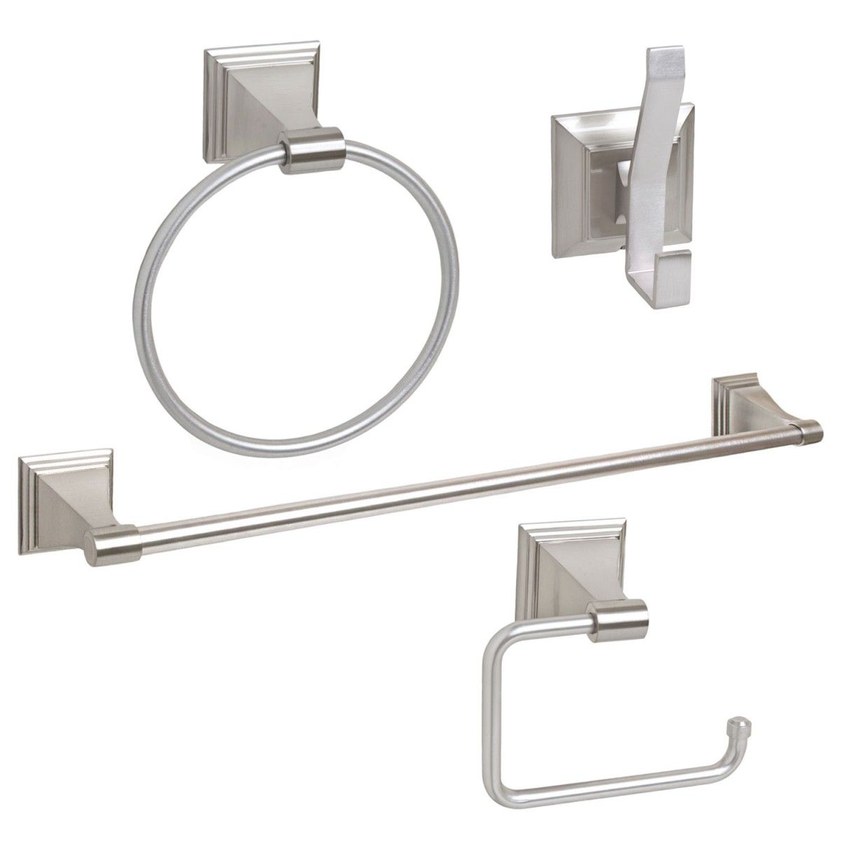 Arista 1702 Leonard Series 4 Piece Bath Hardware Accessory Set ...