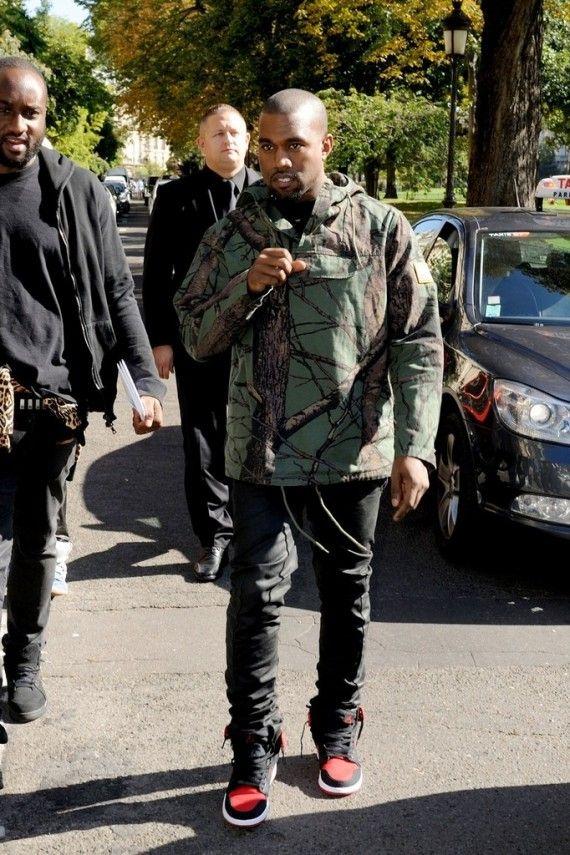 Kanye West in Bred Air Jordan AJKO