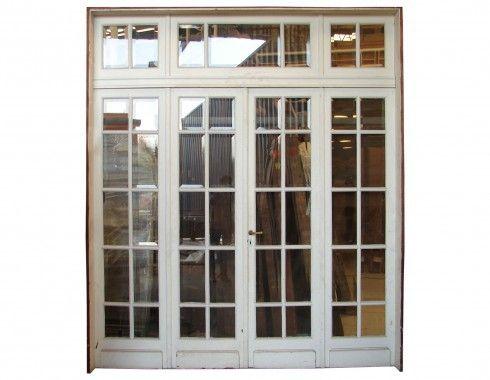 Quad French Patio Door Beveled Glass Installed Doors In