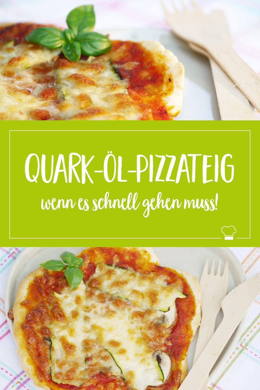 Wenn's schnell gehen muss: Pizza mit Quark-Öl-Teig!