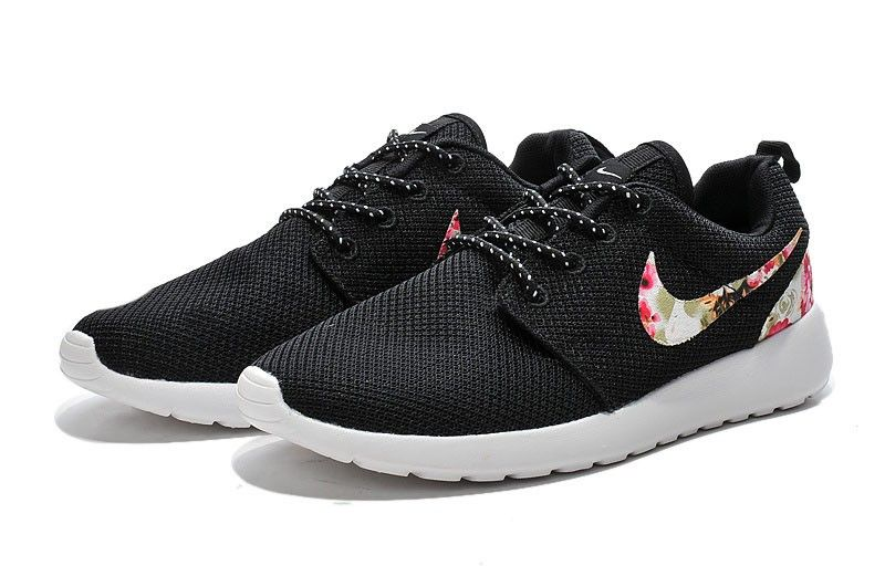 981d15ad048f ... usa womens nike roshe one print red flower series running shoes black  445c9 be07b