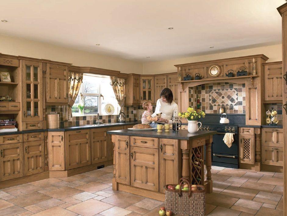 Prinsetton Solid Oak Cheap Kitchens Uk Kitchen Redesign Traditional Kitchen Design