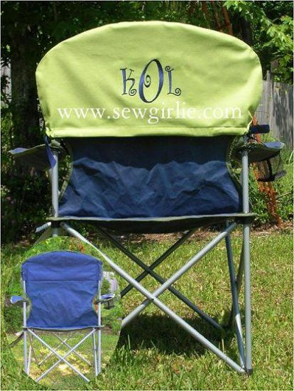 Perfect Monogrammed Folding Chair Cover