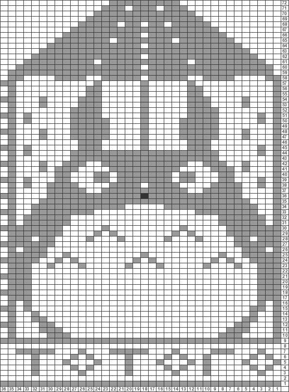 Tricksy Knitter Charts: Totoro by jimkirksapple | crochet | Bordado ...