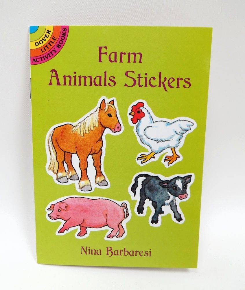 Farm Animals Stickers` A Dover Little Sticker Book   Kids Books