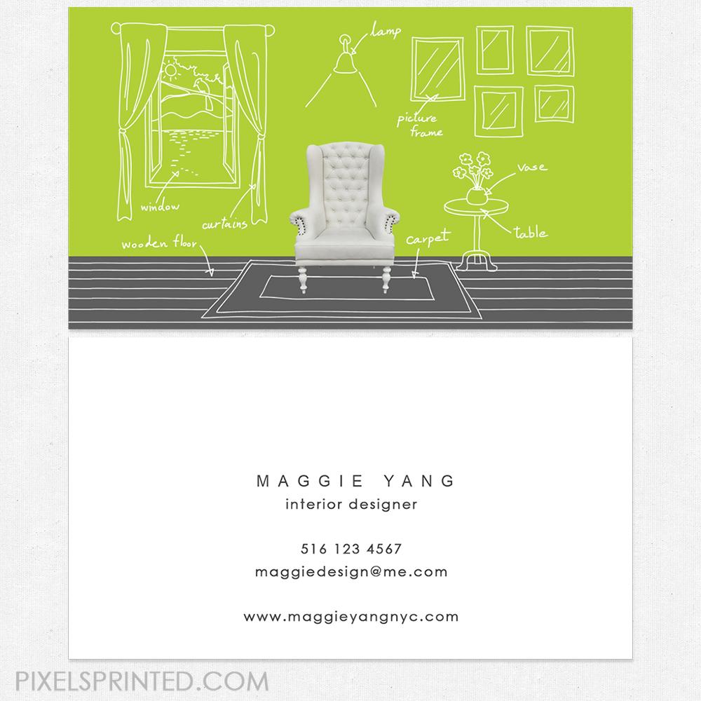 staging business cards, interior designer business cards, interior ...