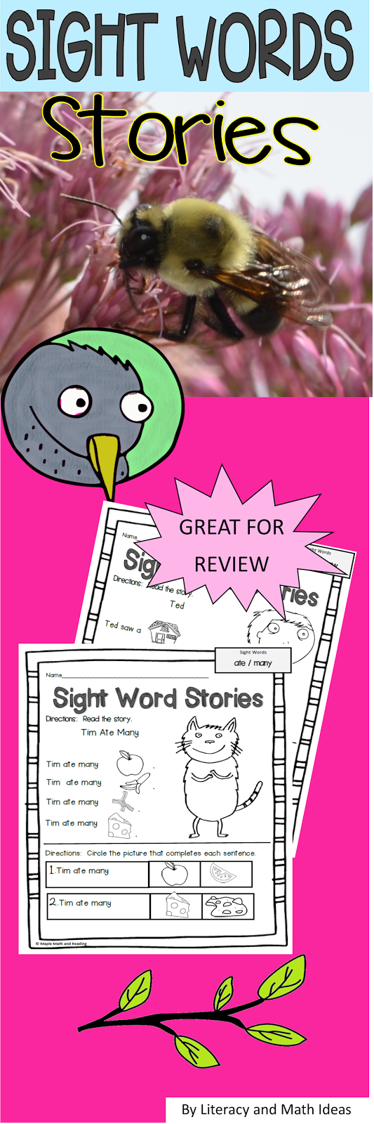 Nine sight word stories are included in this resource. Students can ...
