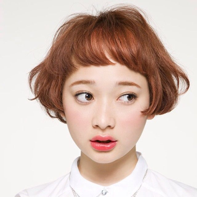2015年秋冬 流行の髪色 オレンジヘア カッパーカラー で外国人風