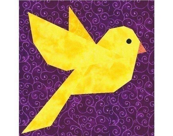 Bluebird quilt block pattern, bird quilt patterns, animal quilt ...