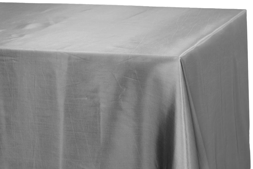 Taffeta Tablecloth 90 X132 Rectangular Gray Silver Table