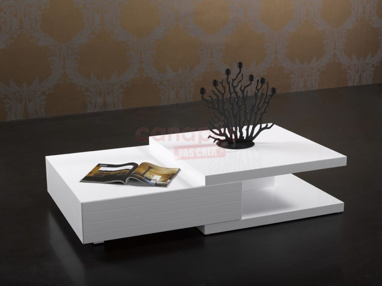 Beau Table Basse Design Pas Cher Blanc Decoration Francaise
