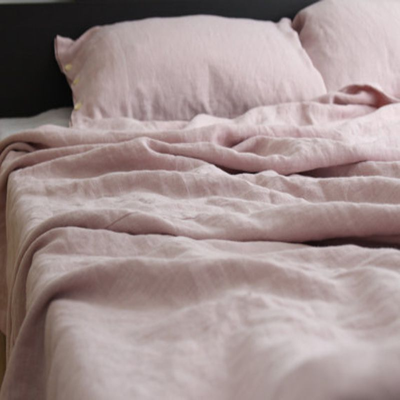 Merveilleux Pink Washed French Bed Linen Duvet Cover Queen Linen Bedding Bed Cover King  Size Flax 100