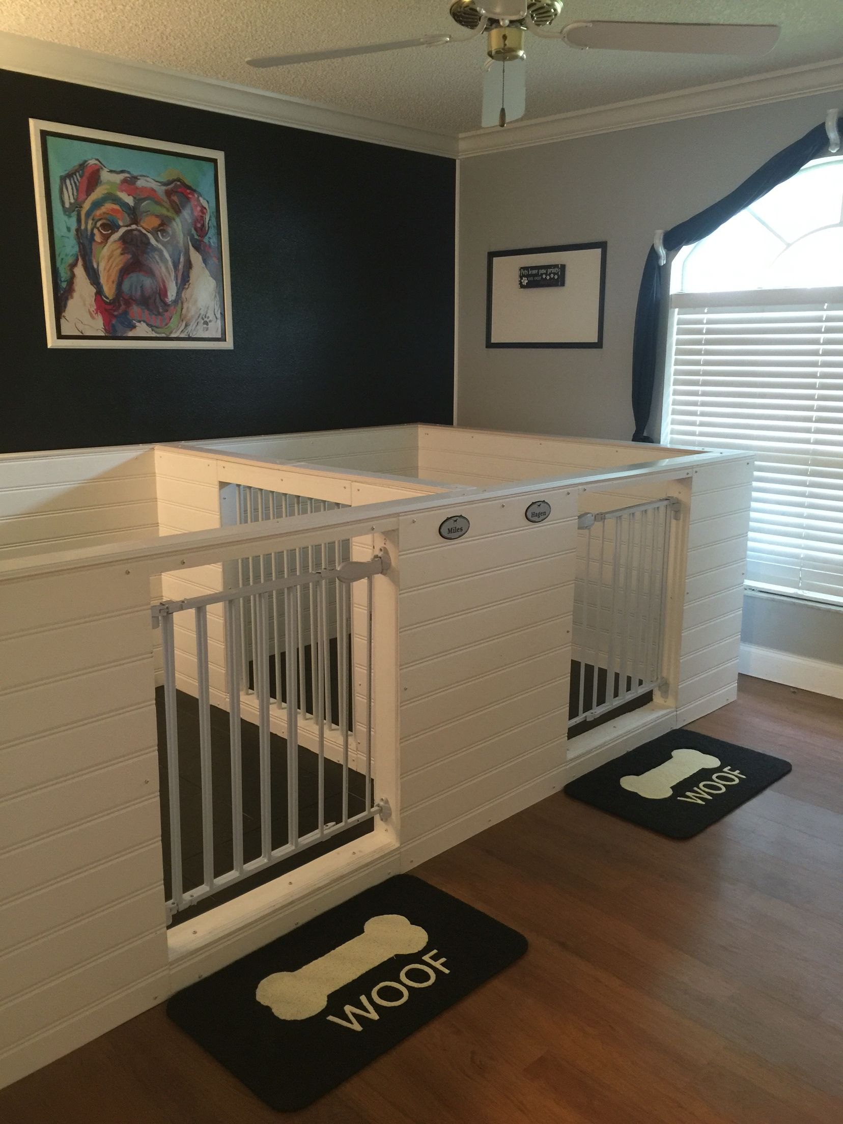 Indoor door kennel tap the pin for the most adorable for Indoor dog house ideas