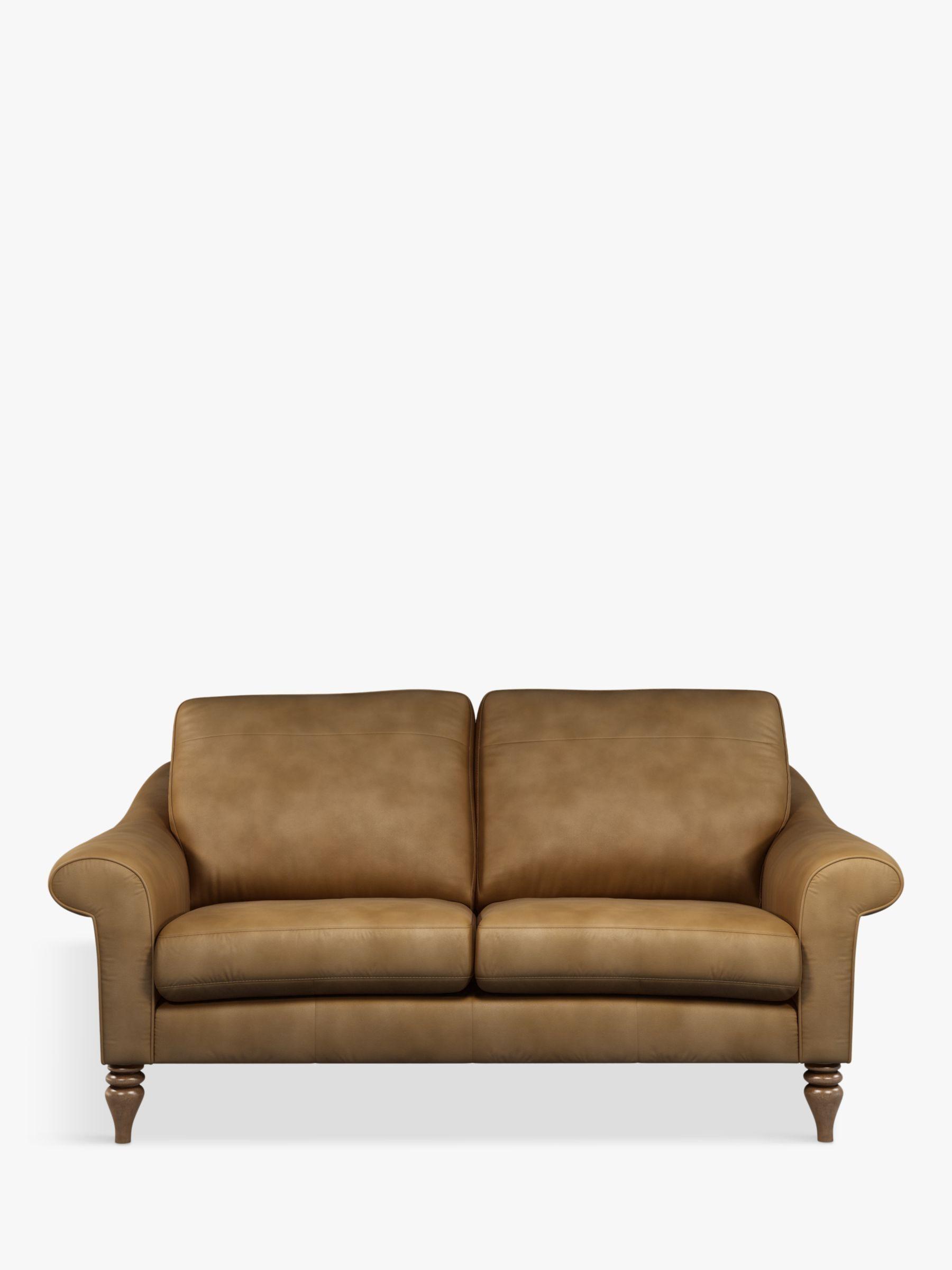 John Lewis Partners Camber Medium 2 Seater Leather Sofa Dark