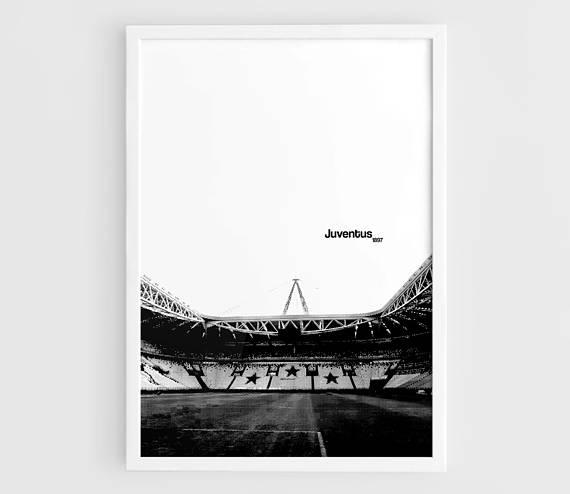 Juventus FC Juventus Stadium Football Poster  A3 Wall Art