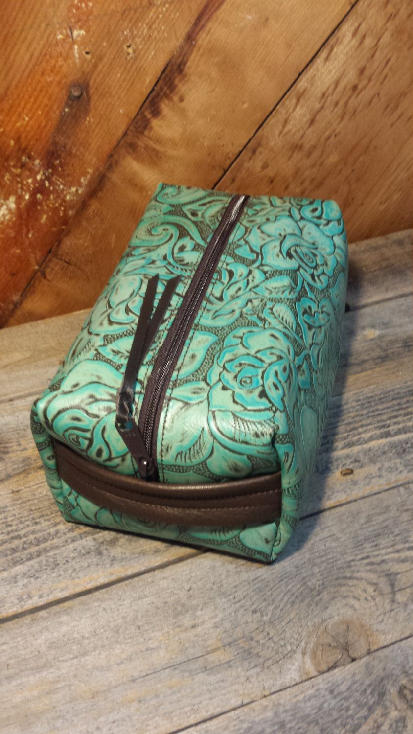 Western Embossed Floral Leather Cosmetic Bag in 2019