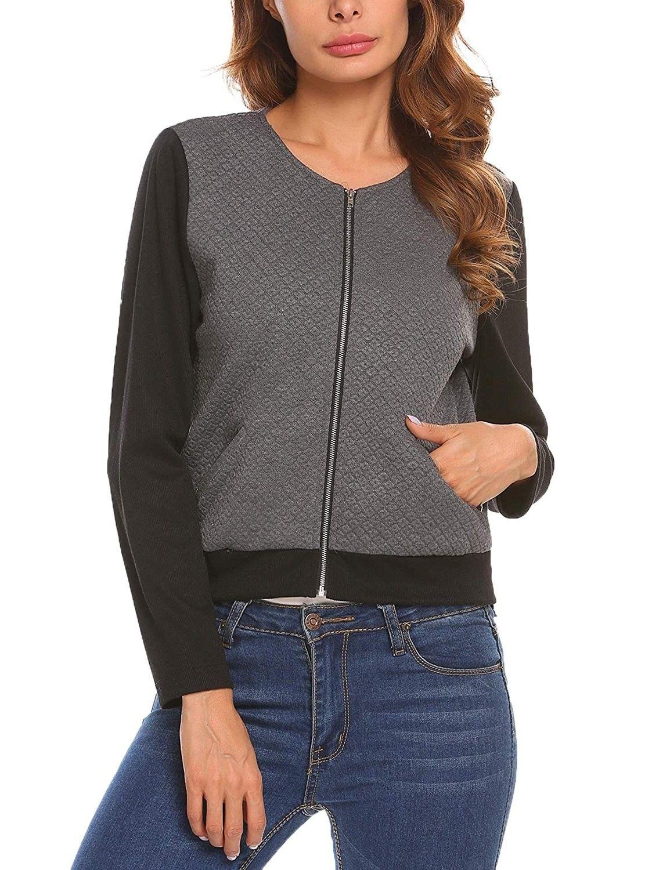 Women's Lightweight ZipUp Knit Sweater Cardigan Short