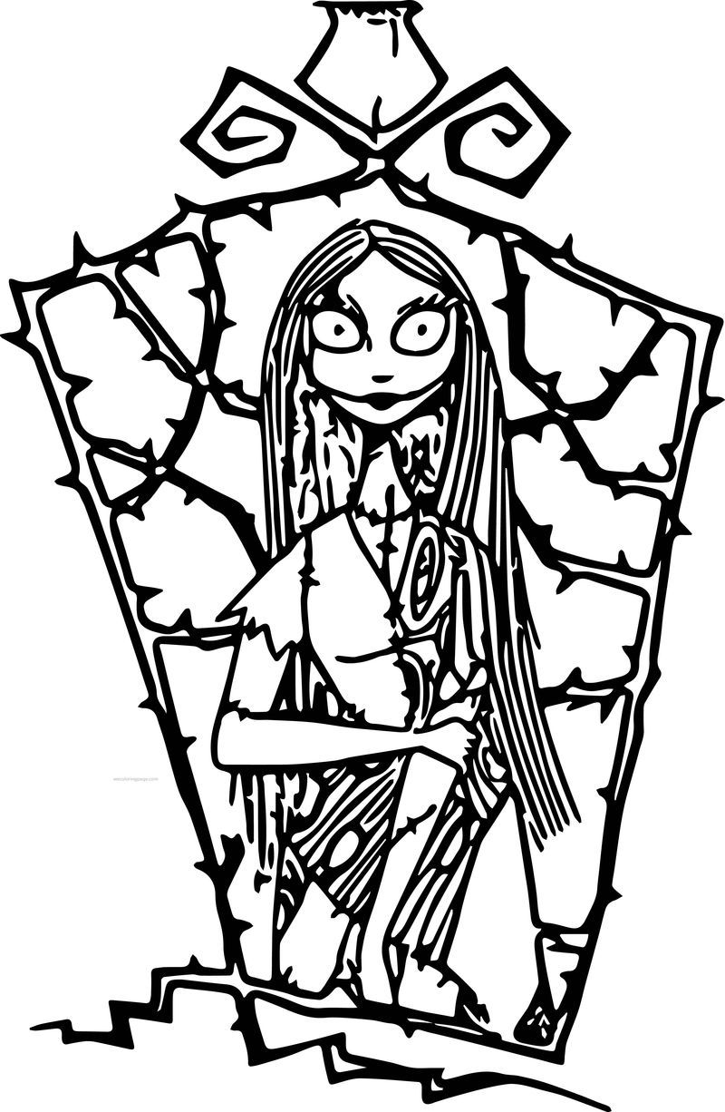The Nightmare Before Christmas Sally 4 Cartoon Coloring Page See