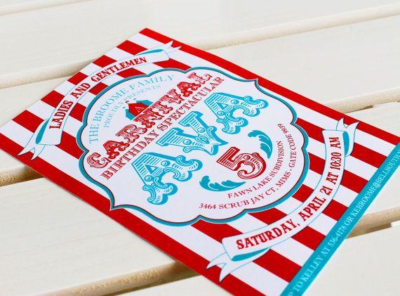 carnival collection invitation diy printable design pinkadot shop