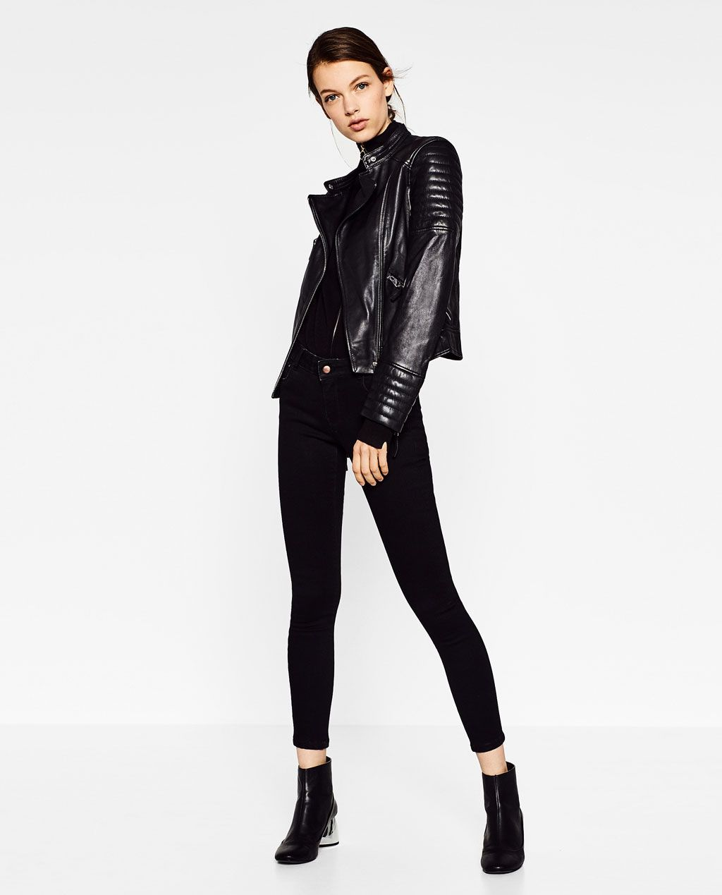 LEATHER JACKET WITH ZIPS-Jackets-OUTERWEAR-WOMAN | ZARA
