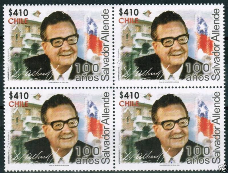 Allende stamp, Chile, 2008