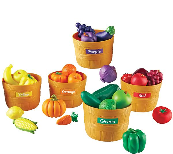 Farmer S Market Color Sorting Set By Learning Resources Qvc Com Color Sorting Play Food Learning Resources