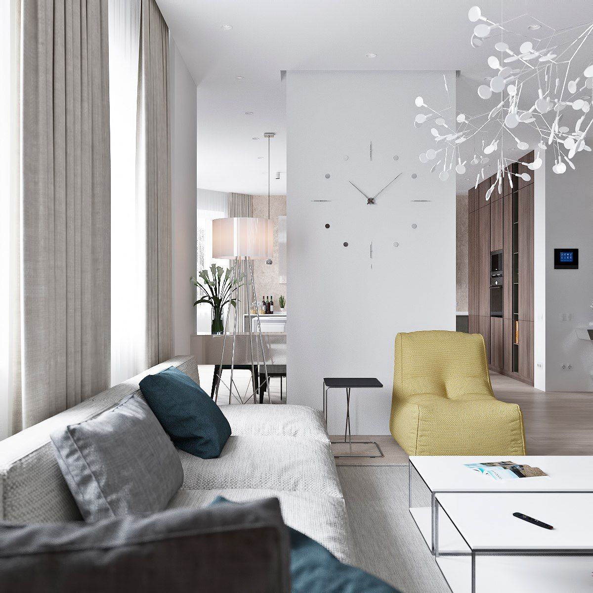 Simple Home Interior Design: 3 Light Interiors With Creative Pops Of Color