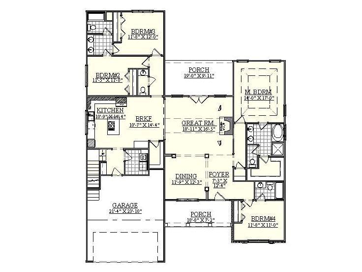 1st Floor Plan 080h 0016 Closing Dining As Office