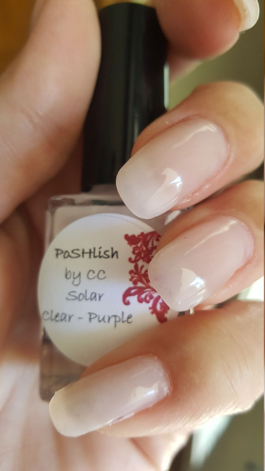 Unique Solar Color Changing Clear Purple Nail Polish Full Size 15ml Bottle By Poshlish On Etsy