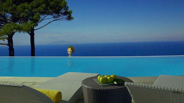 Cliffside Infinity Pool at Hotel Caesar Augustus by Hotel Caesar Augustus, via Flickr