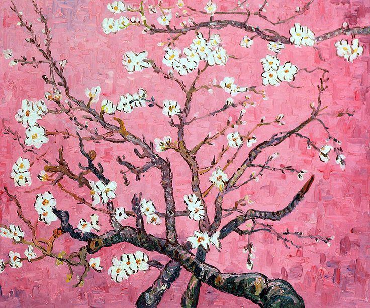 Van Gogh Branches Of An Almond Tree In Blossom Pink Van Gogh Art Flower Art Painting Floral Art Paintings Oil