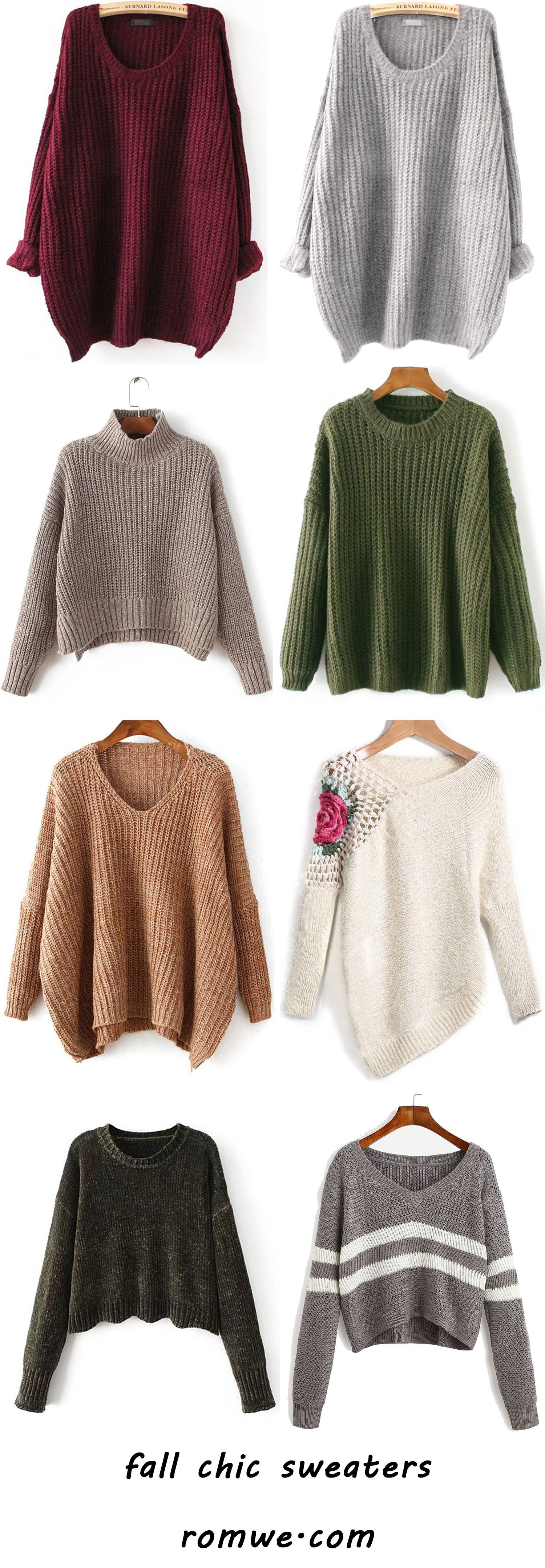 chic fall sweaters 2017 - romwe.com | Romwe Hot Buy | Pinterest ...