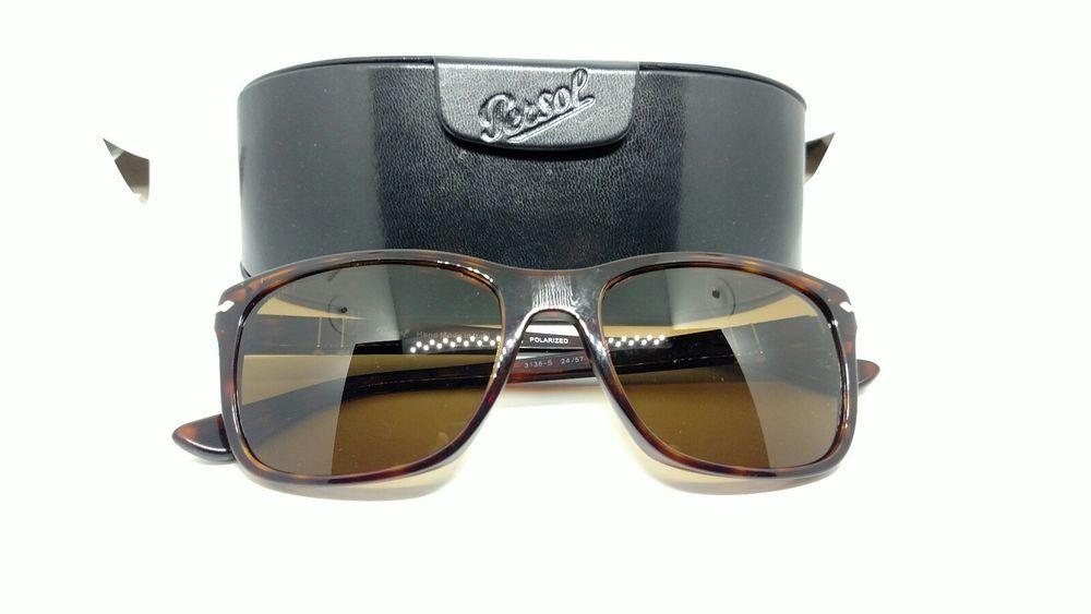 006d682ae7 Persol Sunglasses PO 3135 S 24 57 Havana Frame Polarized Crystal Brown Lens  55mm