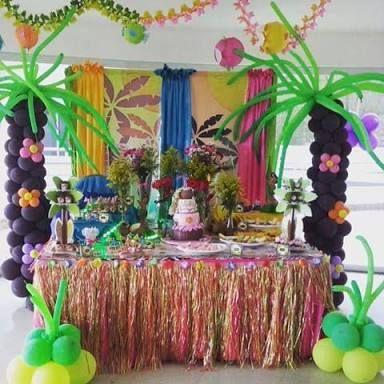 Resultado de imagen para fiesta hawaiana decoracion globos - Decoracion con biombos ...