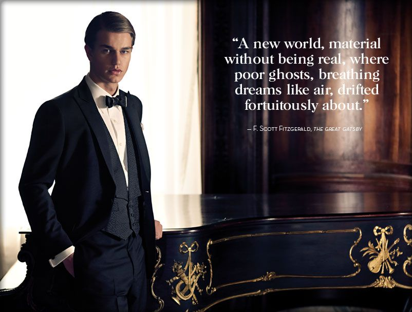 Brooks Brothers new collection, with a quote from Fitzgerald's The Great Gatsby. The novel is set in the 1920's.