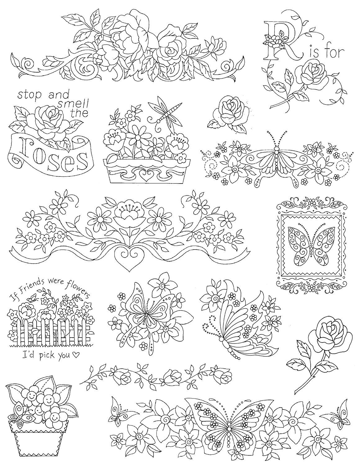 Over 25 Iron on Patterns Aunt Marthas Kitchen Designs Embroidery Transfer Pattern Book