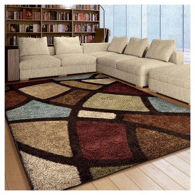 Brown Abstract Woven Area Rug 7 10 Quot X10 10 Quot Orian