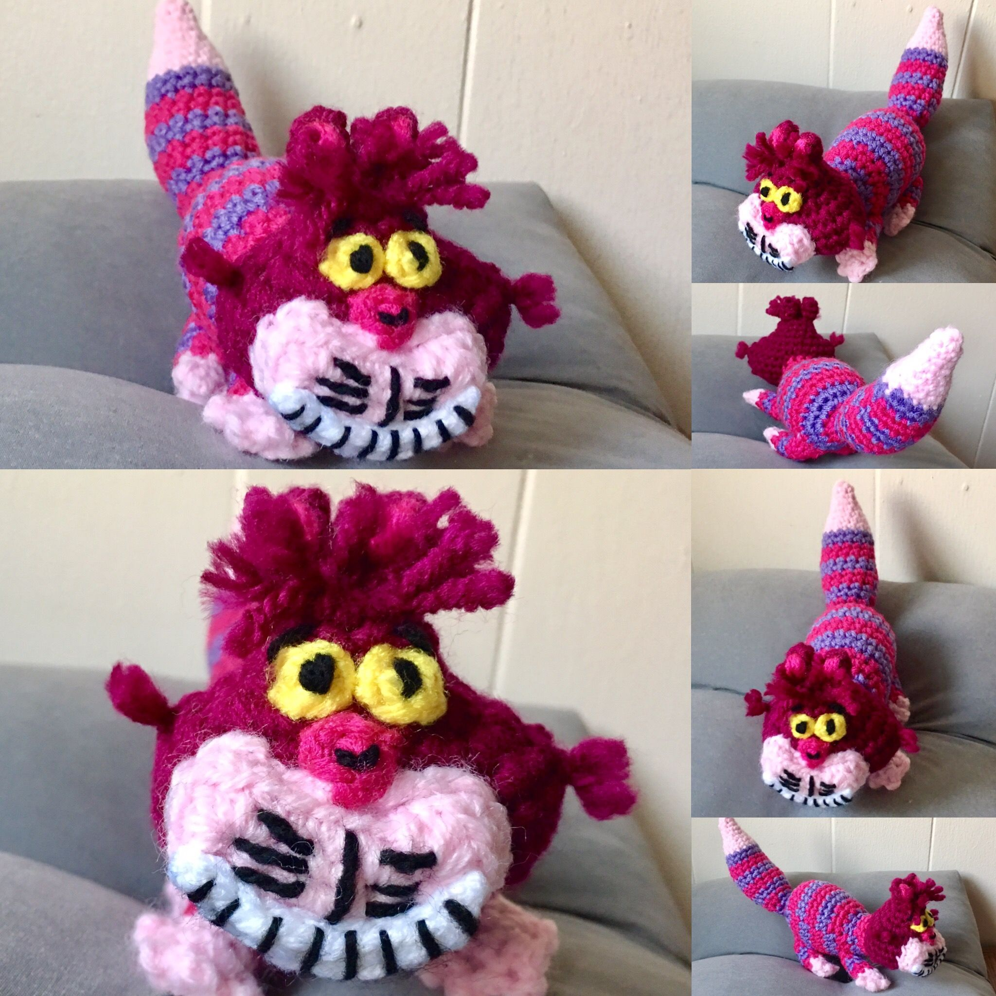 Cheshire Cat and Alice in Wonderland Characters - CROCHET | 2048x2048