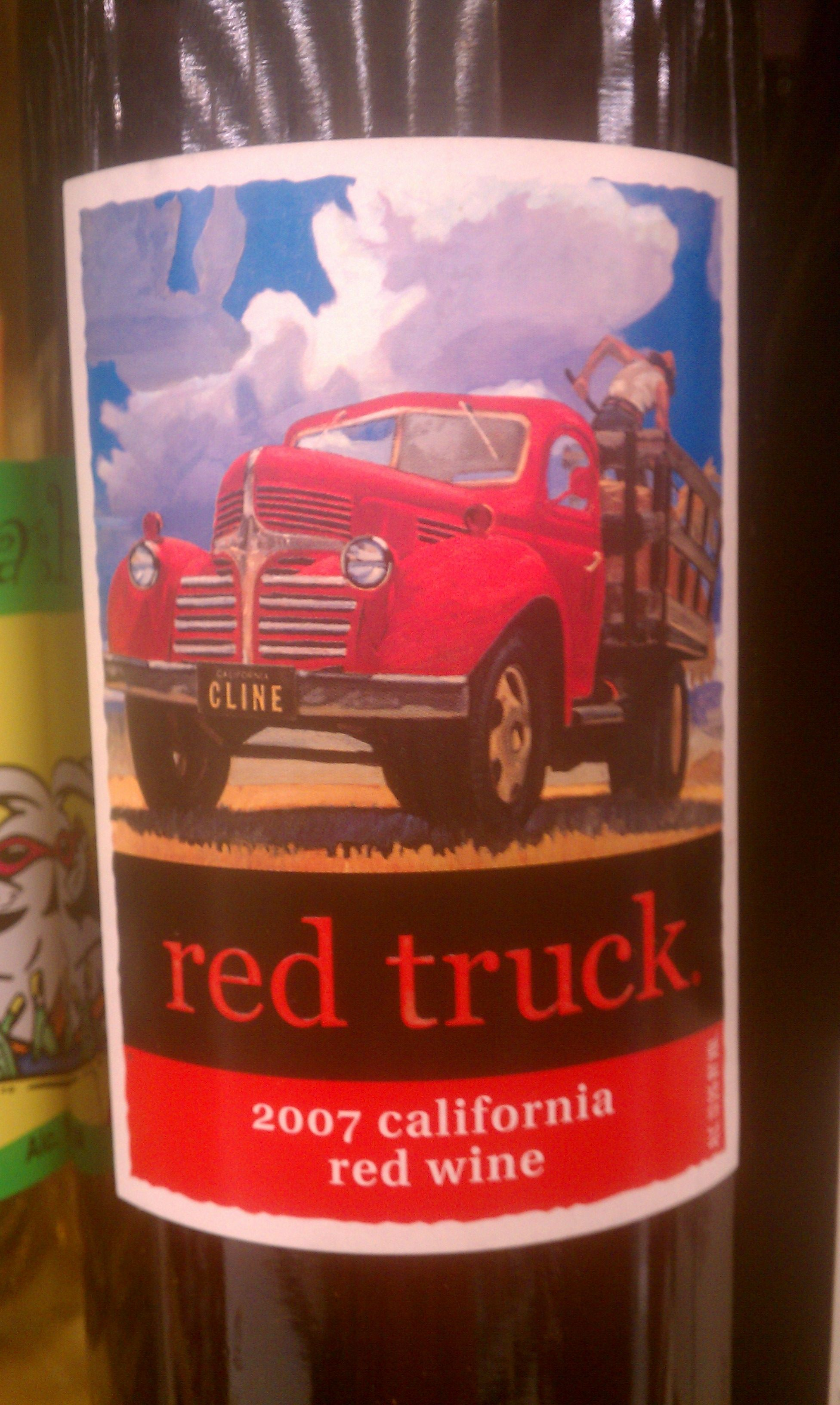 Red Truck Wine Lable Placas