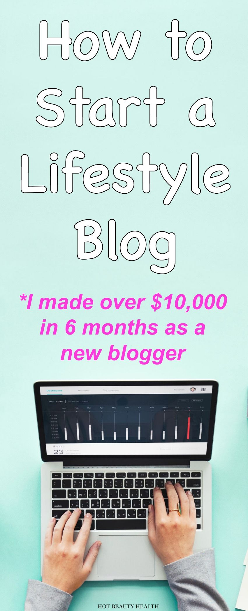 Starting a lifestyle blog is the best side hustle I have ever done to earn extra money and now I'm blogging full-time! I was able to set up and start a blog for really cheap and I made over $10,000 in the first six months as a newbie blogger. My step-by-step guide will walk you through the process on how to start a blog.