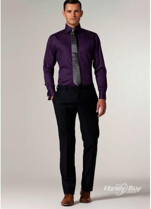 Deep Purple dress shirt | Las Vegas Wedding | Pinterest | Gavin o ...