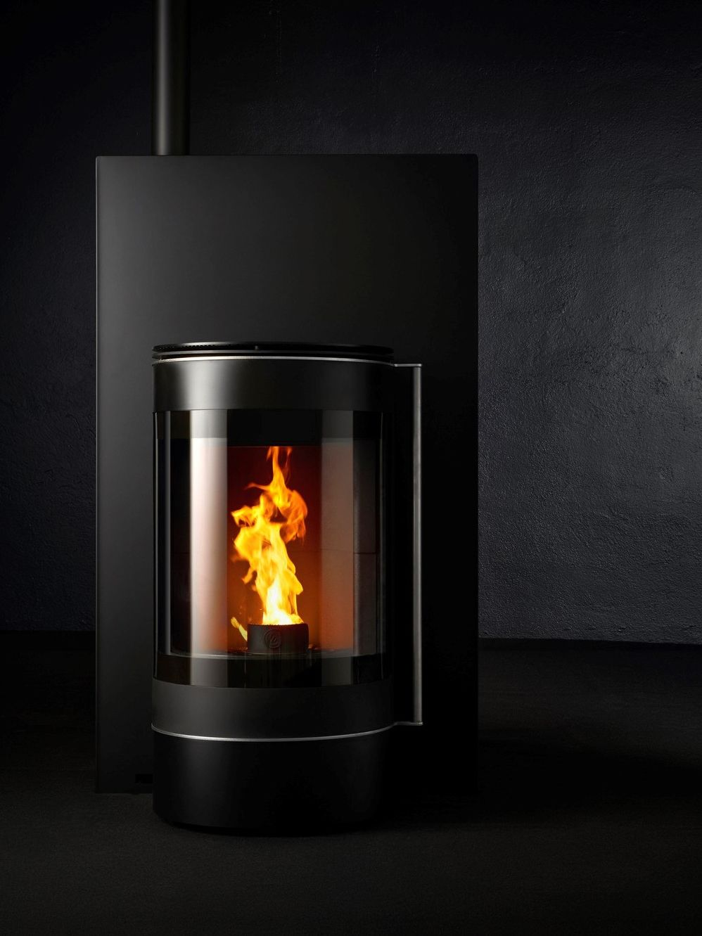 Pellet Class A Wall Mounted Steel Stove Alter Ego By Caminetti Montegrappa Caminetti Stufa A Pellet Stufa