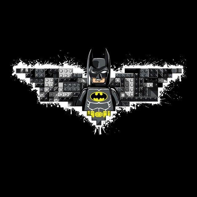 """""""The Lego Knight"""" by hyperstatica is $10 today at ShirtPunch.com (07/31). #tshirt #TheLegoMovie #Lego #Batman #DarkKnight #BruceWayne"""