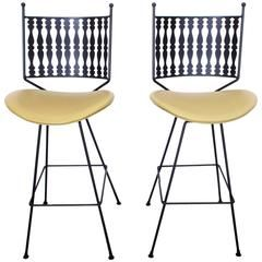 Pair Of Vintage Mid Century Bar Stools By Arthur Umanoff For Shaver Howard Amazing Ideas